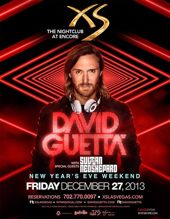 David Guetta at XS New Years Weekend