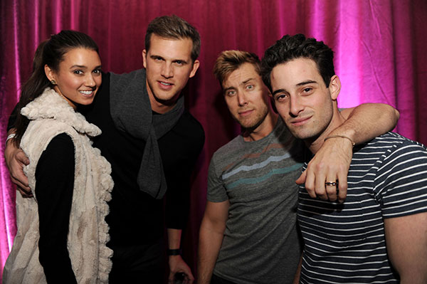 Matt-Nordgren,-and-Lance-Bass-with-Fiance-Michael-Turchin-at-TAO-at-Village-at-the-Lift-with-Moet-&-Chandon-and-Stella-Artois